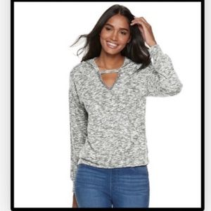 🆕Juicy Couture Women's Marled Cutout Hoodie Small